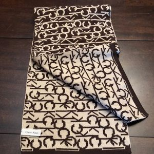 Calvin Klein logo scarf.  Excellent condition